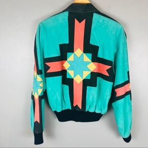 Michael Hoban vtg 80s Southwest suede Moto jacket